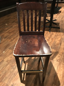 Solid Wood Bar Height Stools