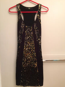 Small BEDO partially sequined dress