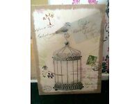 Birdcage picture canvas