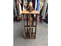 African Indian wood CD stand display cupboard rack shelf ornament