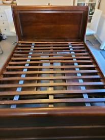 Mahogany Sleigh King Size Bed
