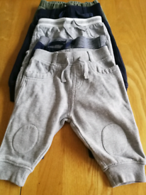 5 pairs baby joggers 3 to 6 months 50p per pair