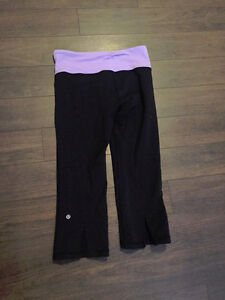 AUTHENTIC LULULEMON GATHER AND CROW CROPS SIZE 6 older quality