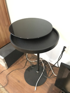 IKEA Side Table with Rotating Glass Top !