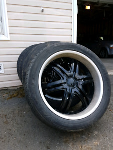 "22"" Boss Rims and tires -6 bolt-Best offer"