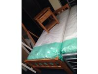 Pine single bed sale new