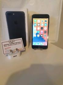 Apple iPhone 7 Plus Matt Black 32GB + 100% Battery + Warranty