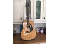 Yamaha Acoustic Guitar, Case, Books, CD and Strings