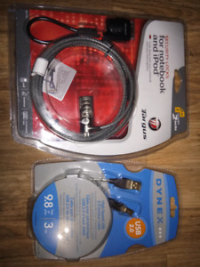 Laptop Security lock and USB Device Cable