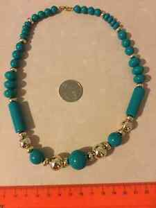 Big Teal Beaded Necklace