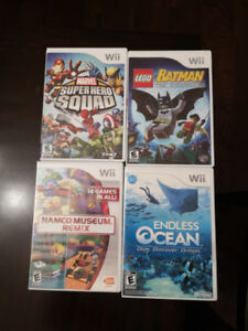 4 Nintendo Wii Games ($5 each and in perfect condition)