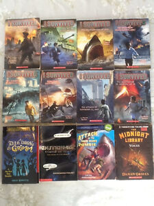 "Lot of 12 ""I Survived"" and similar Scholastic books."