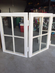 White Refinished Bi-folding Windows for Sale