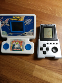 Vintage small hand held electronic games.