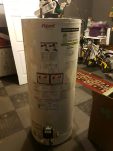 Used 2015 60 gallon water heater