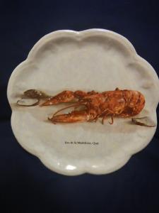 "Ile de madeleine quebec lobster plate 10 3/4"""