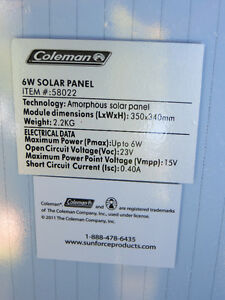 COLEMAN 6 WATT 12 VOLT SOLAR BATTERY Kawartha Lakes Peterborough Area image 2