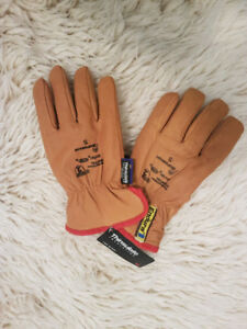 Leather Winter Working Gloves