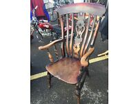 19th c elm seat Windsor Back Chair
