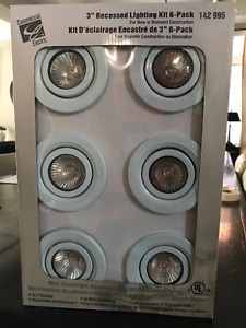 "3"" Recessed Potlights for sale $25/6 pack"
