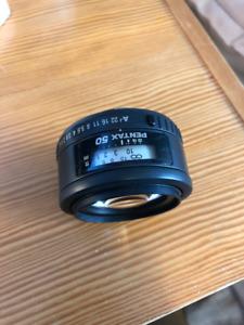 Pentax FA 50mm autofocus lens