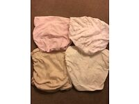 4 x Moses basket fitted sheets