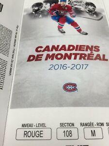 MONTREAL CANADIENS REDS TICKETS SEPT 29