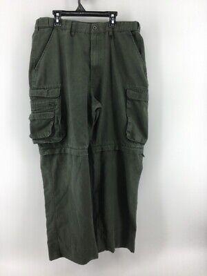 Boy Scouts Of America Mens Green Convertible Uniform Pants Shorts Classic 36