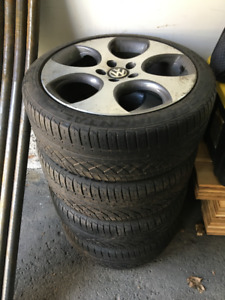 4 Genuine VW GTI 18 inch rims with all season Continental Tires