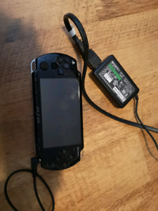 PSP PLAYSTATION PORTABLE WITH POWER ADAPTER WI FI