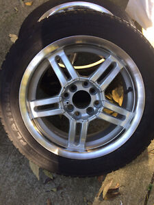 Set of All Season Tires with Alloy Rims Kitchener / Waterloo Kitchener Area image 6