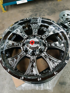 "20"" takeoffs 8x165 WORX CHROME RIMS"