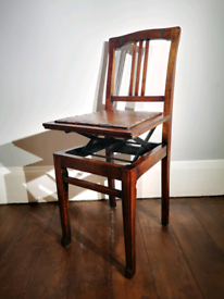 Stunning Rare Height Adjustable Music Chair! Antique