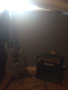 Guitar and amp! Barley used!