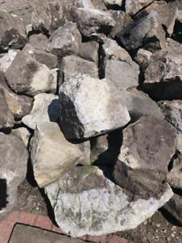 Limestone rockery boulders