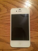 White iPhone 4, 8gb with life proof case