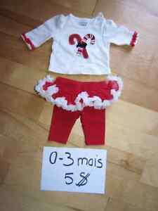 Pyjamas et cache-couches fille 0-3 mois