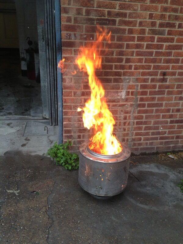washing machine drum fire pit patio burner incinerator bbq ...