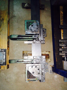 "Notchers (2) 3""x 3"" Unipunch 1-LH 1-RH mounted on adj rail"