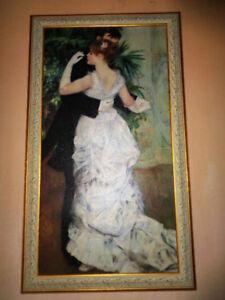 """""""La valse"""" (Reproduction d'un Renoir), Tableau (22""""x38"""")"""