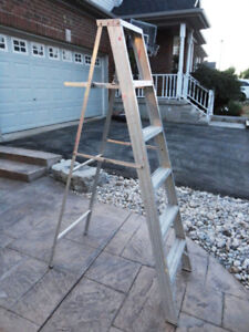 6 Foot Aluminum Stepladder  - No damage or kinked edges