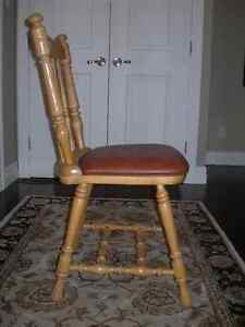 Oak Chair solid wood with removable leather seat brand new. Kitchener / Waterloo Kitchener Area image 2