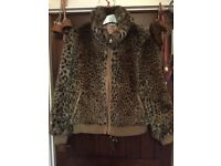 RED HERRING FAUX FUR BOMBER STYLE JACKET