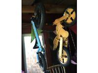 2 balance bikes
