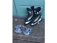 Men's size 10 ice skating blades and hand guards. Like new. Collection only. Great present