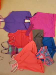 Aviva and triple flip shirts and shorts for girls size 8/10