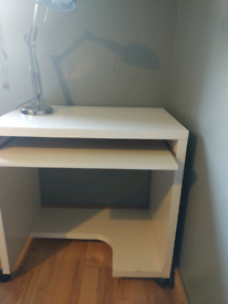 IKEA CREAM COMPUTER WORK DESK