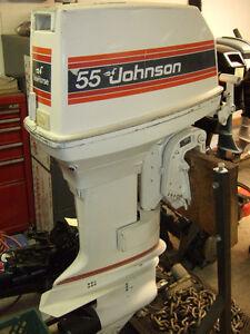 JOHNSON 55 HP TILLER MODEL ENGINE