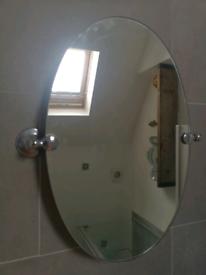 No e tilting bathroom wall mirror, chrome only £7!