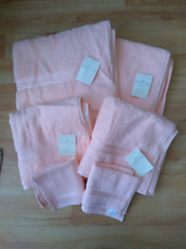 Cotton Towels - Soft Peach - Brand New with tags